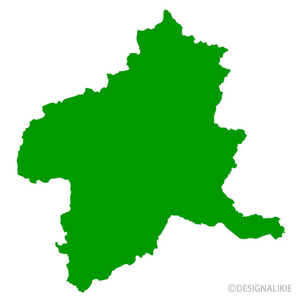 群馬県地図の無料イラスト素材|イラストイメージ